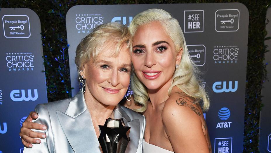 Lady Gaga and Glenn Close - Critics' Choice Awards - H Getty 2019
