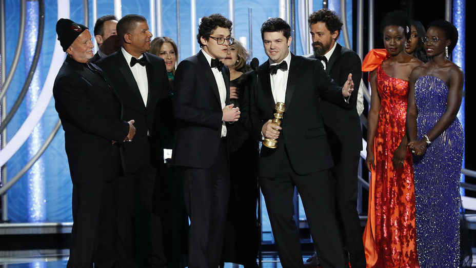 """Spider-Verse"""" accepts the Best Motion Picture -76th Annual Golden Globe Awards 2- Getty-H 2019"""