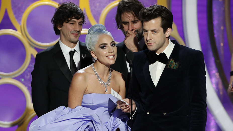 Lady Gaga and Mark Ronson accept the Best Original Song - Motion Picture awards - Getty-H 2019