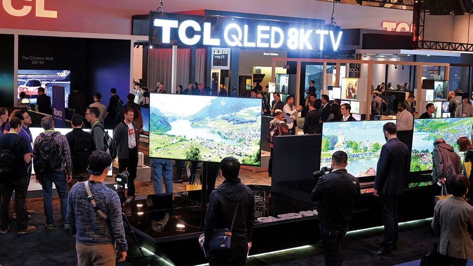 ONE TIME USE - 8K televisions at the TCL booth - Getty-H 2019