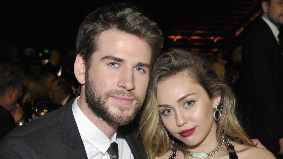 Liam Hemsworth and Miley Cyrus at G'Day USA Gala - H Getty 2019
