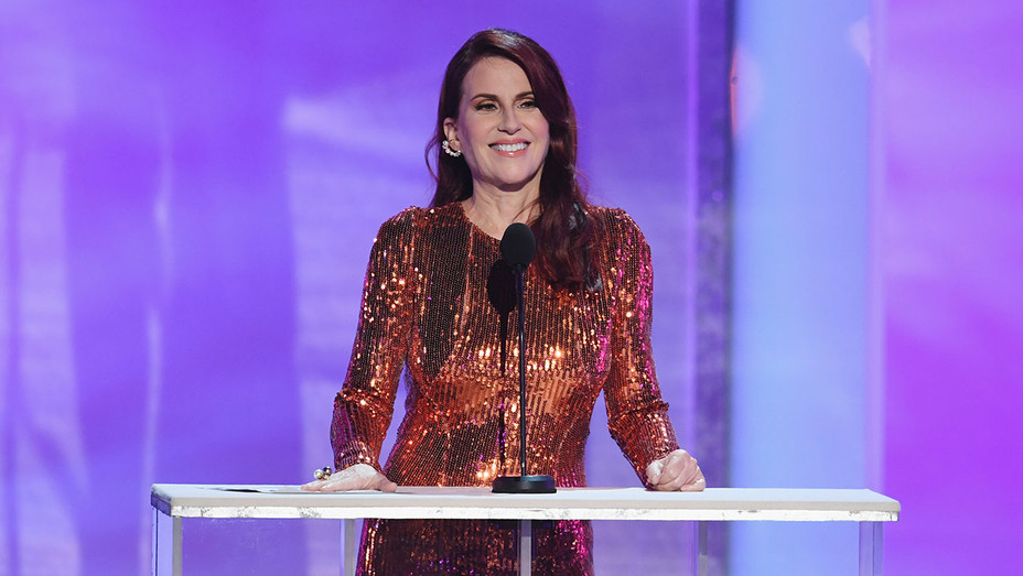 Megan Mullally speaks onstage during the 25th Annual Screen Actors Guild Awards  - Getty -H 2019