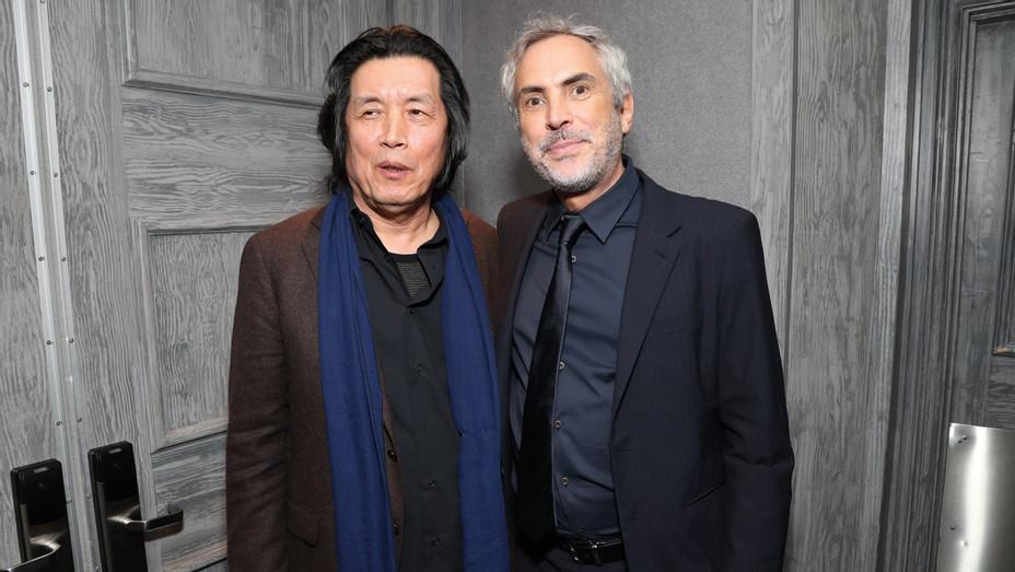 Lee Chang-Dong and Alfonso Cuaron at LAFCA - H Getty 2019
