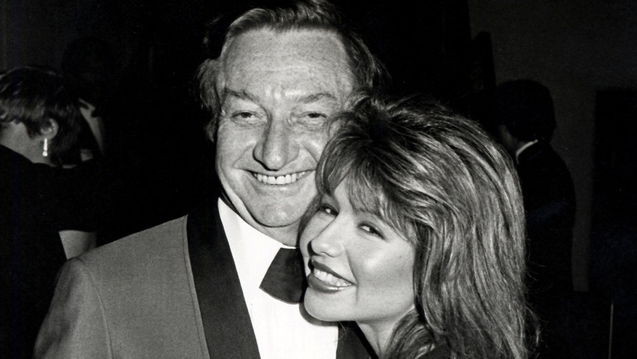 ONE TIME USE ONLY- Meshulam Riklis and Pia Zadora -Spago Restaurant - April 6, 1983 - Getty-H 2019
