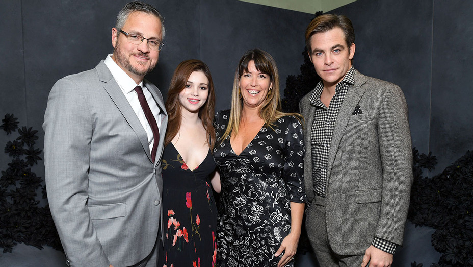 I Am the Night Influencer Junket -  Sam Sheridan, India Eisley, director Patty Jenkins, and Chris Pine- Getty-H 2019