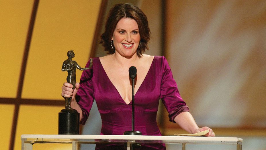Megan Mullally accepts the award for Best Female Actor in a Comedy Series -9th SAG Awards - Getty H 2019