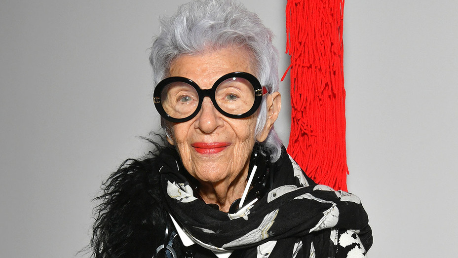 Iris Apfel attends the Calvin Klein Collection fashion show  - Getty-H 2019
