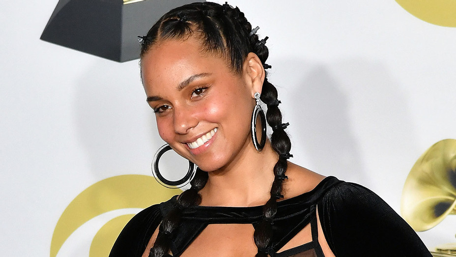 Alicia Keys poses in the press room during the 60th Annual GRAMMY Awards - Getty-H 2019