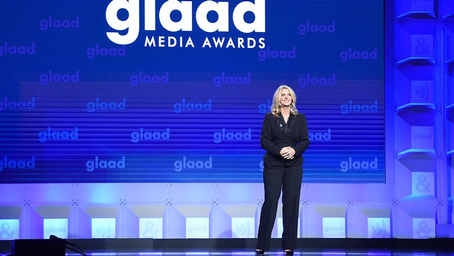 Sarah Kate Ellis speaks onstage at the 29th Annual GLAAD Media Awards - Getty -H 2019