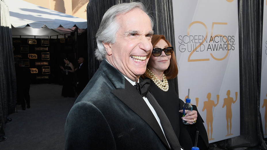 Henry Winkler and Stacey Weitzman attend the 25th Annual Screen ActorsGuild - Getty - H 2019