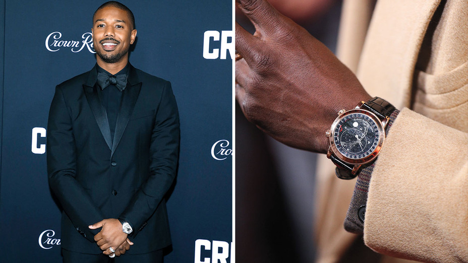 How Stars Show Off Watches on the Red Carpet -Michael B. Jordan-watch-split-Getty-H 2019