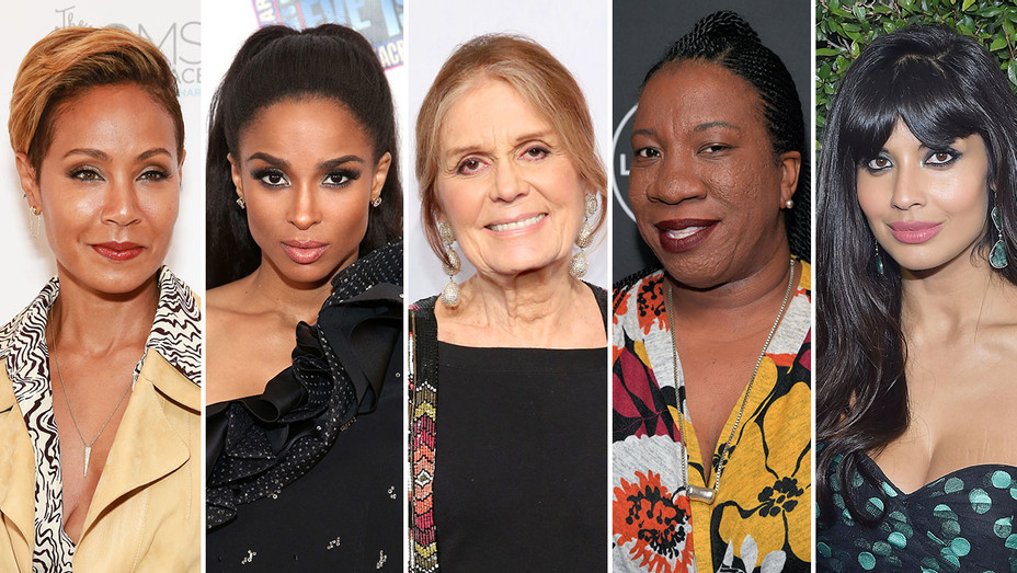 Jada Pinkett Smith, Ciara, Gloria Steinem, Tarana Burke and Jameela Jamil_Split - Getty - H 2019
