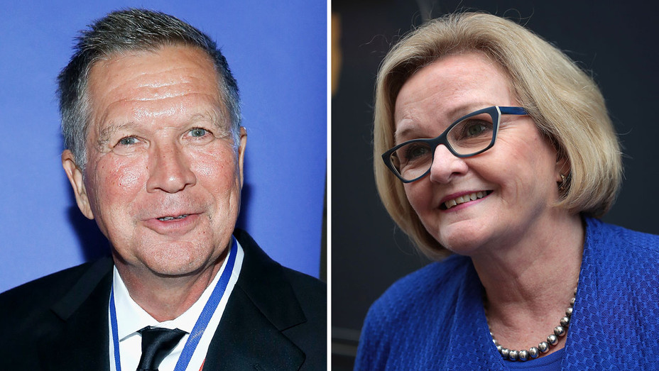 John Kasich and Claire McCaskill - Split- Getty-H 2019
