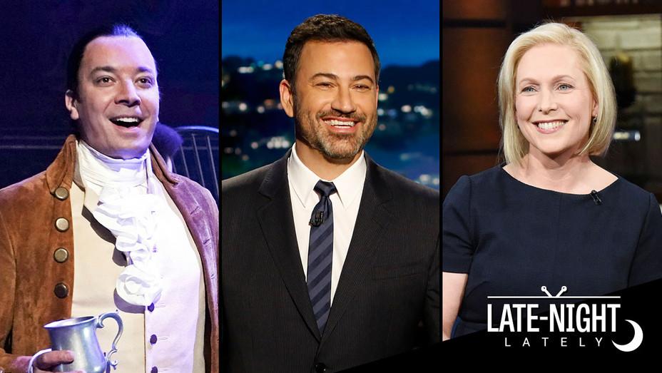 LATE NIGHT LATELY-Jimmy Fallon-Jimmy Kimmel-Kirsten Gillibrand-Publicity Stills-Split-H 2019