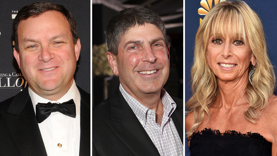 Mark Lazarus, Jeff Shell and Bonnie Hammer - SPLIT-GETTY-H 2019
