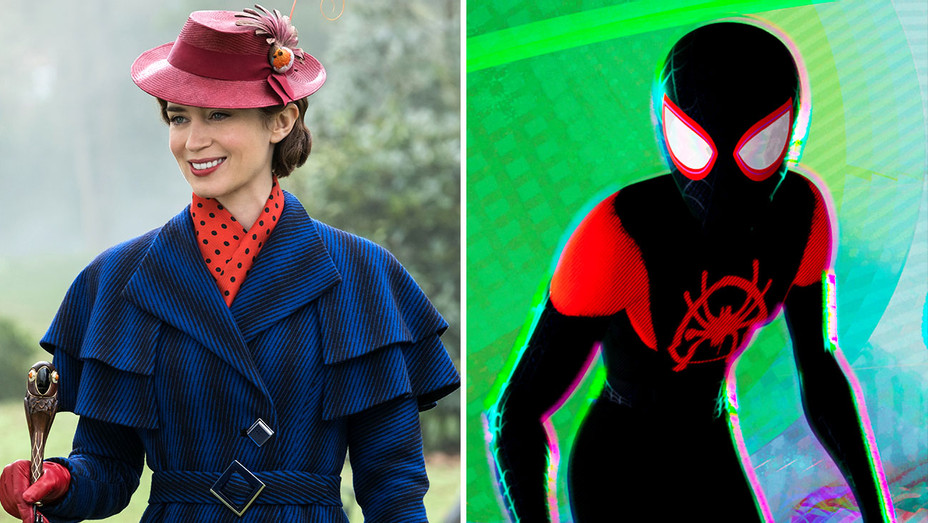 Mary Poppins-Spiderman: Into the Spiderverse-Publicity Still-Split-H 2019