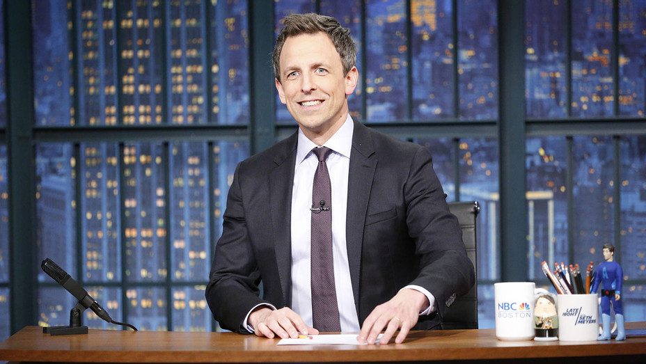 LATE NIGHT WITH SETH MEYERS - Seth at desk  -Publicity-H 2019