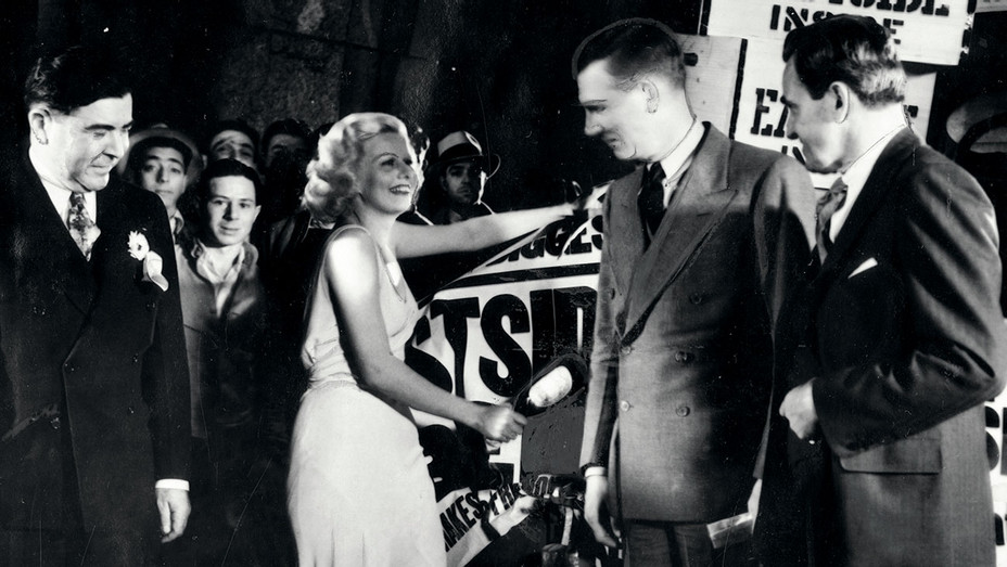 ONE TIME USE ONLY-Hollywood Flashback- April 7, 1933, Jean Harlow christened the first truckload of beer signaling the end of Prohibition-H-2019