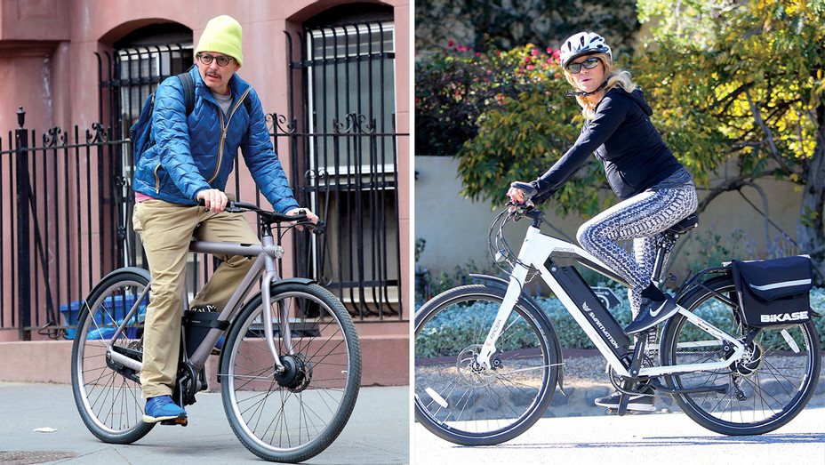 ONE TIME USE ONLY-Matthew Broderick-Goldie Hawn-Hollywood Jumps on the E-Bike Craze-SPLASH-Getty-Split-H 2019