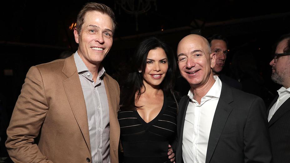 Patrick Whitesell, Lauren Sanchez and Amazon CEO Jeff Bezos-Getty-H -2019