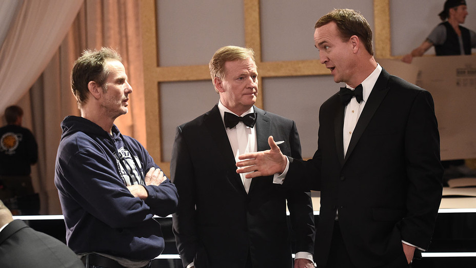 Peyton Manning, Roger Goodell and Peter Berg - Publicity - H 2019
