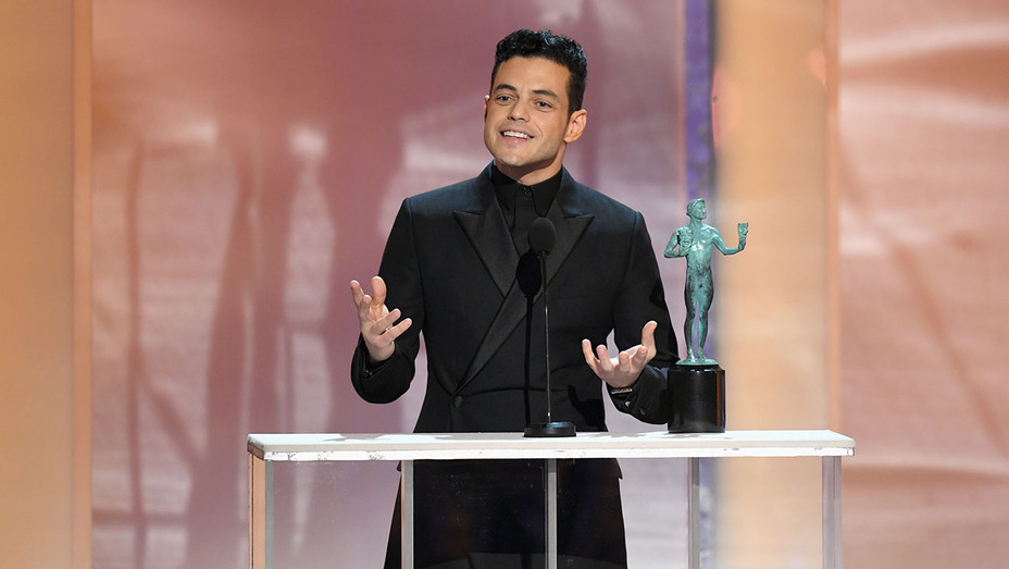 Rami Malek wins SAG Award - Getty - H 2018
