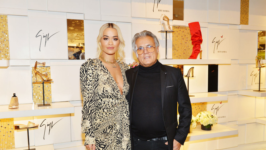 Giuseppe Zanotti and Rita Ora - Getty - H 2019