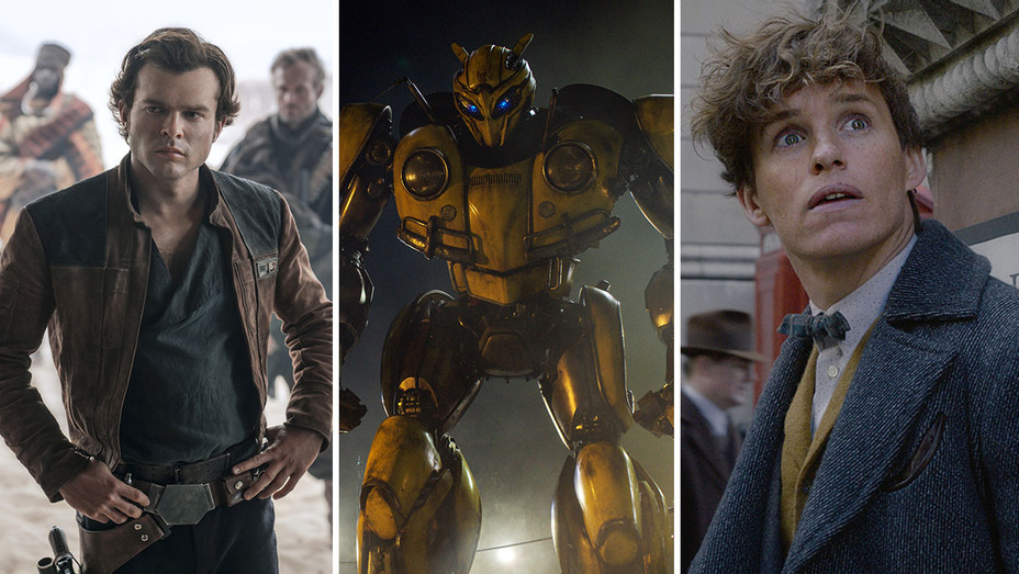 Solo- A Star Wars Story; Bumblebee and Fantastic Beasts- The Crimes of Grindlewald-Publicity Stills-Split-Photofest-H 2018