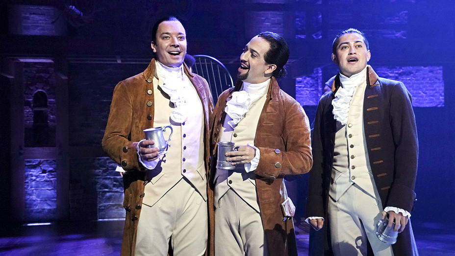 THE TONIGHT SHOW-Host Jimmy Fallon, actor Lin-Manuel Miranda, and actor Rubén J. Carbajal-Publicity-H 2019