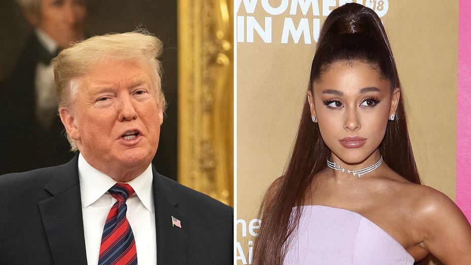 Trump and Ariana Grande_Split - Getty - H 2019