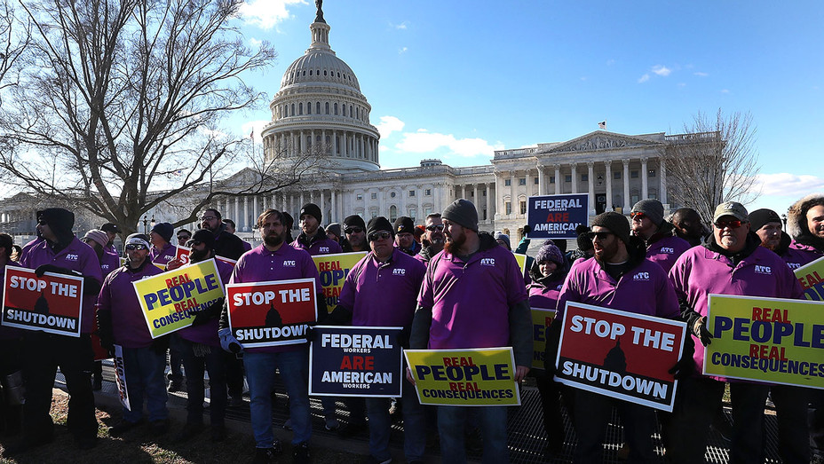 Union Organizers In Washington, D.C. Hold Rallies Calling For End To Government Shutdown-Getty-H 2019
