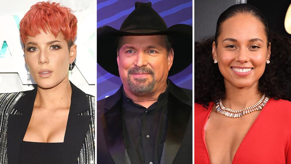 Halsey, Garth Brooks & Alicia Keys- Split-Getty-H 2019