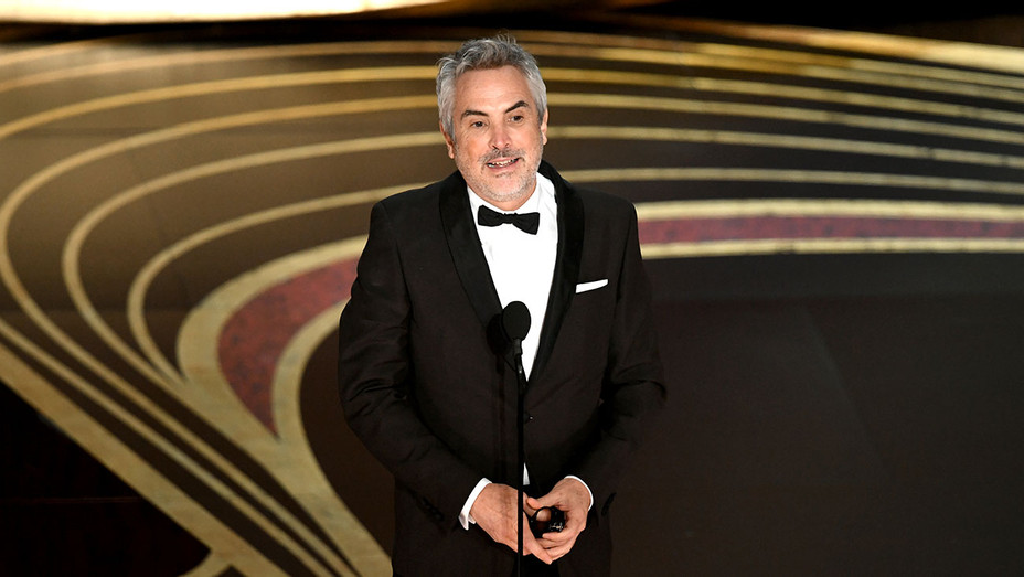 Alfonso Cuaron accepts the Best Director award for 'Roma' onstage during the 91st Annual Academy Awards-Oscars 2019-Getty-H 2019