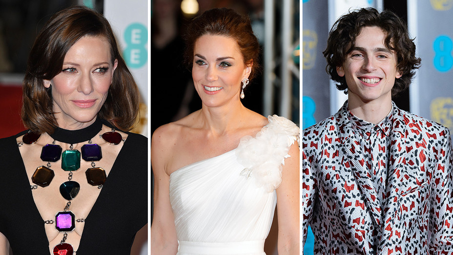Cate Blanchett Kate Middleton Timothee Chalamet BAFTA Split - Getty - H 2019