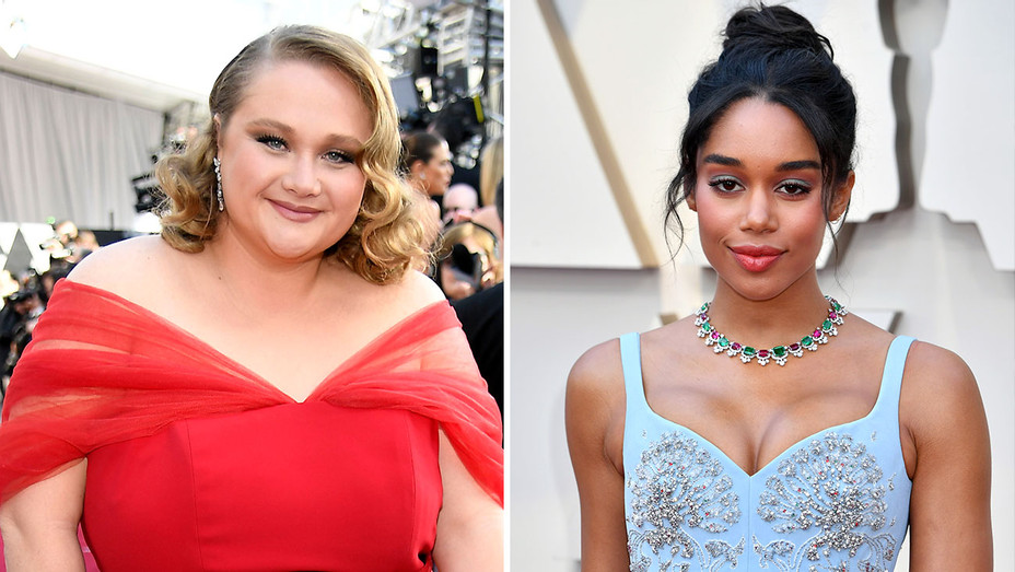 Danielle Macdonald and Laura Harrier-91st Annual Academy Awards  - Split Getty-H 2019
