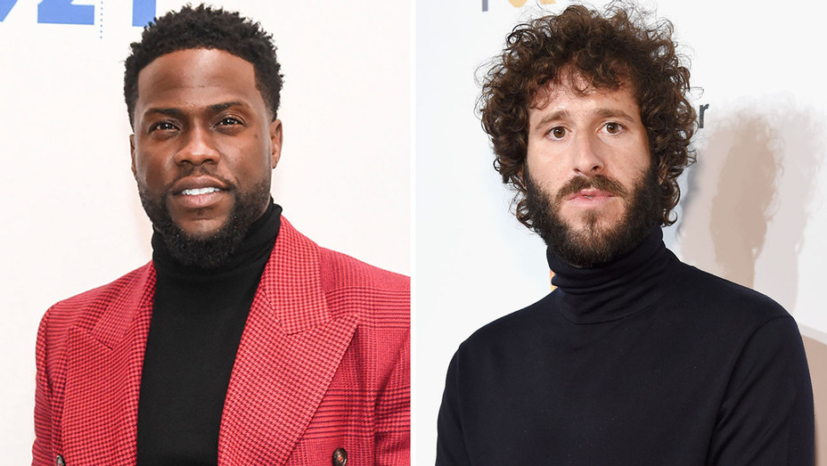 Dave Burd aka Lil Dicky and Kevin Hart - Getty - H Split 2019
