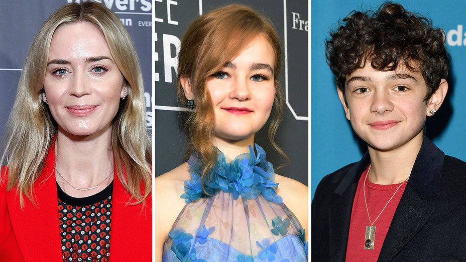 Emily Blunt, Millicent Simmonds and Noah Jupe - Split-Getty-H 2019
