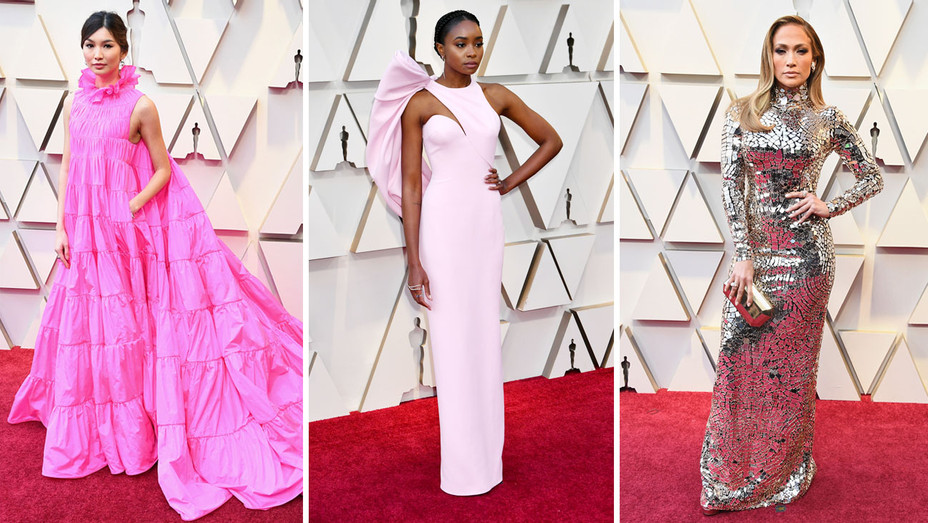 Gemma Chan Kiki Layne Jennifer Lopez at 91st Annual Academy Awards - Getty - H 2019