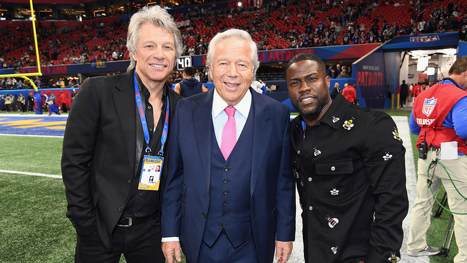 Superbowl Jon Bon Jovi Robert Kraft Kevin Hart - Getty - H 2019