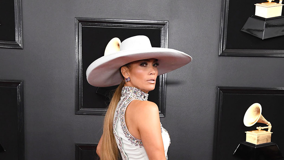 Jennifer Lopez attends the 61st Annual GRAMMY Awards -  LONG HAIR - Getty- P 2019