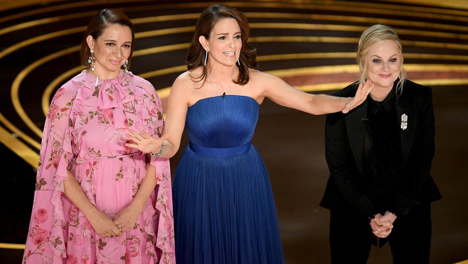 Maya Rudolph Tina Fey Amy Poehler Academy Awards 2 - Getty - H 2019