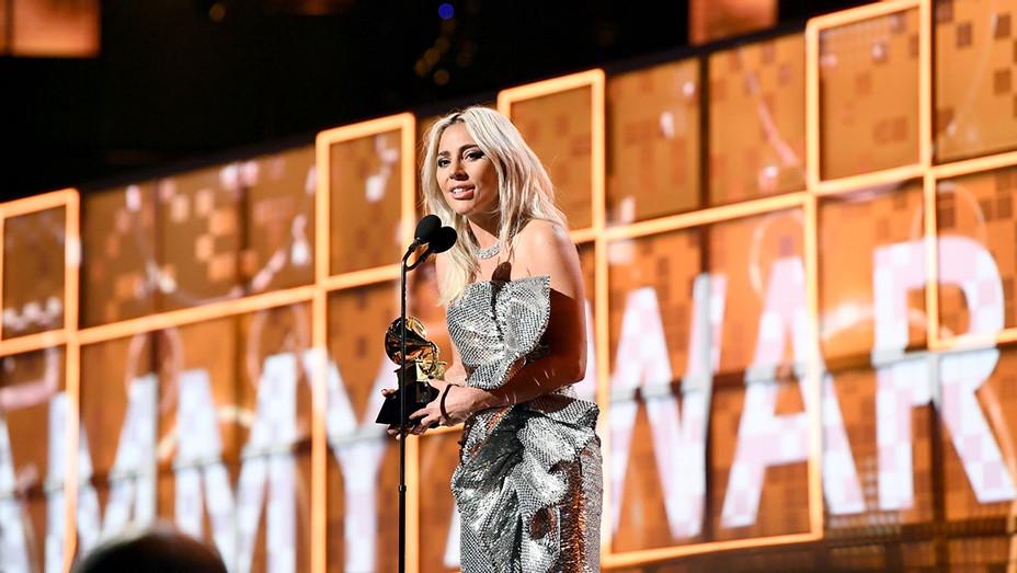 Lady Gaga winning award at the GRAMMYS 2019-Getty-H 2019