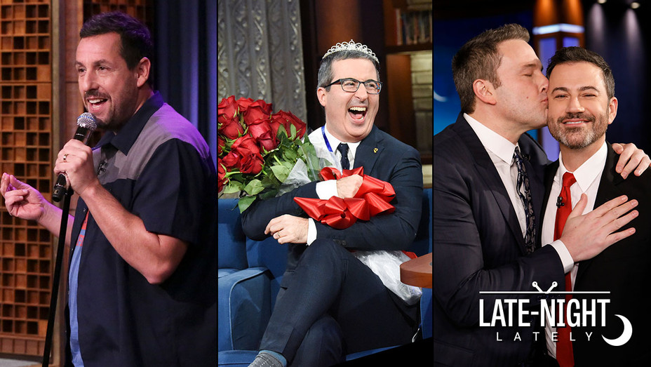 Late Night Lately -Adam Sandler-John Oliver-Ben Affleck-Publicity Stills-Split-H 2019