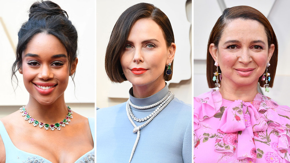 Laura Harrier, Charlize Theron and Maya Rudolph-Getty-Split-H 2019