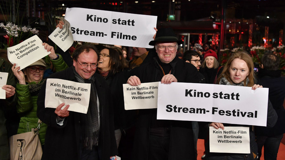 Anti-Netflix Protest on Berlin Red Carpet