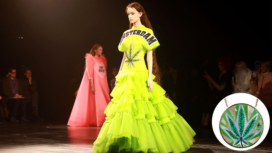 New-Amsterdam dress model-Weed necklace inset-Getty-Publicity-H 2019