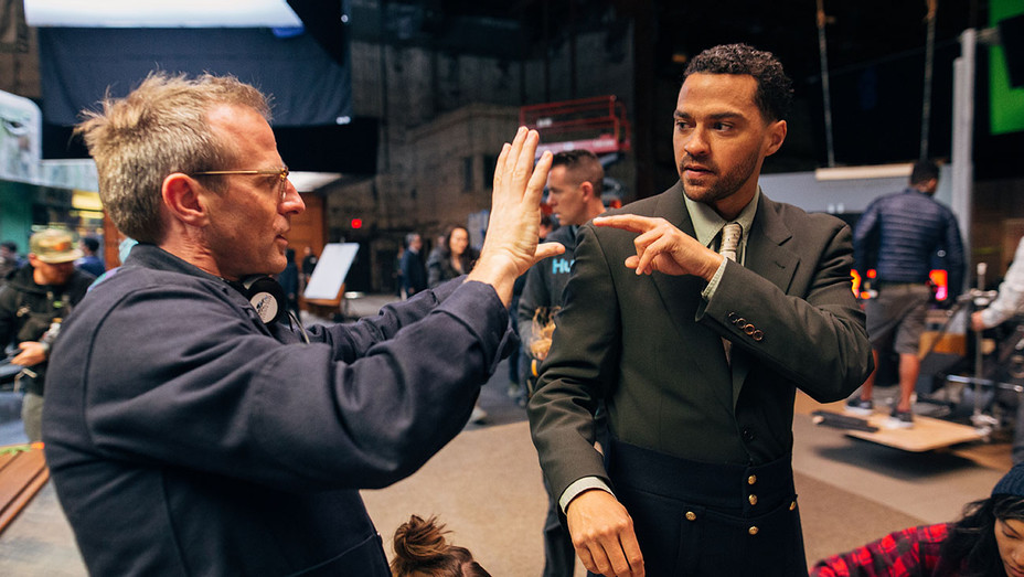 Spike Jonze and Jesse Williams BTS - Publicity - H 2019