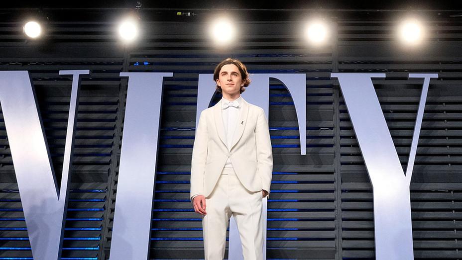 Timothée Chalamet attends the 2018 Vanity Fair Oscar Party -Getty-H 2019