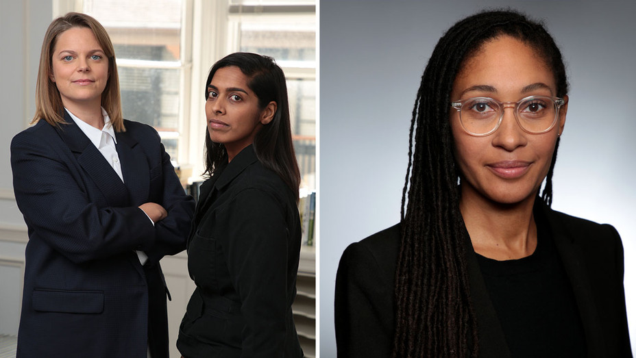 Tonia Davis on left and Priya Swaminathan-Qadriyyah Shamsid-Deen-Publicity-Split-H 2019