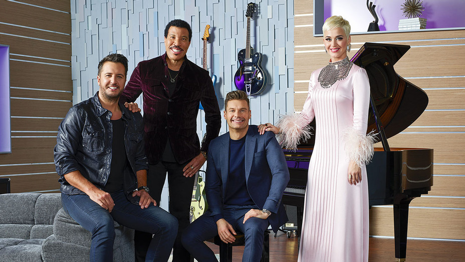 AMERICAN IDOL – Ryan Seacrest with judges Lionel Richie, Katy Perry and Luke Bryan - Publicity-H 2019